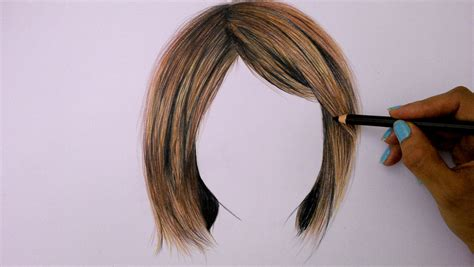 hairstyles color drawing how to draw hair using colored pencils youtube