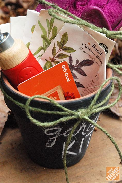 diy gift ideas gardening kit in chalkboard pot the home