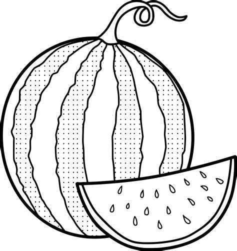 Watermelon Coloring Page Watermelon Coloring Page