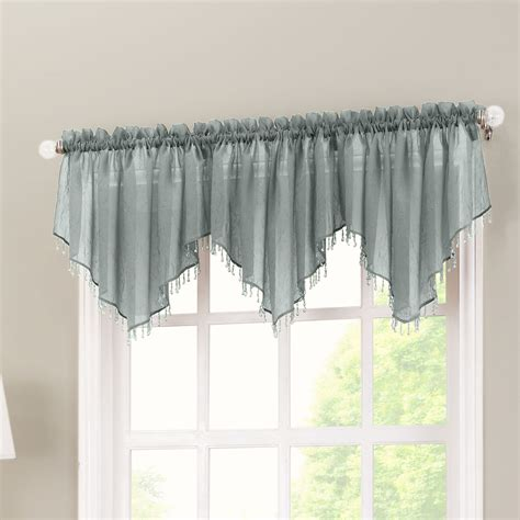 kitchen curtains valance no 918 crushed sheer voile 51 quot curtain valance reviews