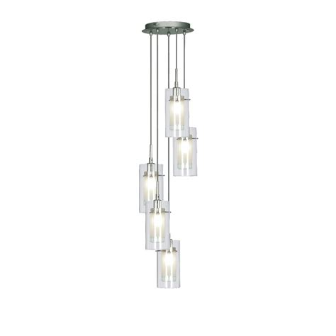 Pendant Lighting 3 Ls by Searchlight 2305 5 Duo 1 5 Light Ceiling Pendant Polished