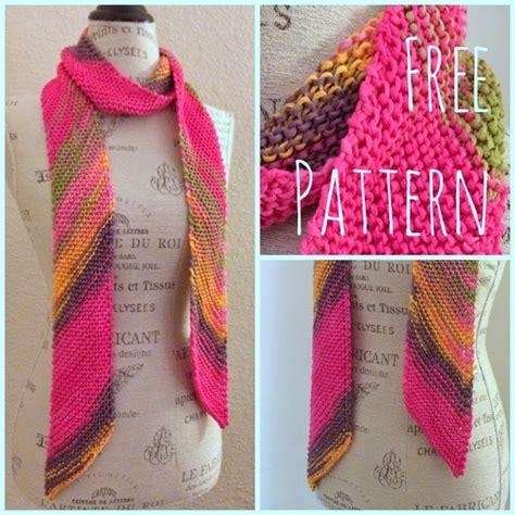 knitting pattern diagonal scarf diagonal scarf free knitting pattern blog nobleknits