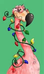 christmas flamingo clip art