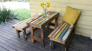 Diy pallet deck furniture budget free