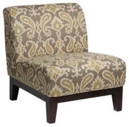 Linen Armchair Petra Ikat Gray Fabric Armless Accent Chair Transitional