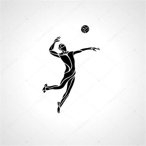 imagenes de tatuajes de voleibol silueta del jugador de voleibol vector de stock 169 kluva