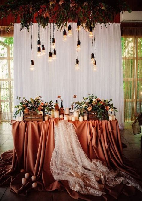 rustic bohemian rust wedding color ideas