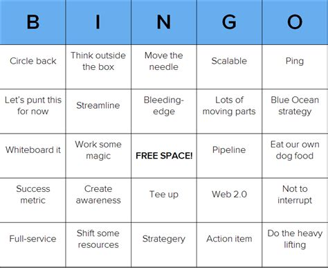 bingo card template powerpoint ready to play some business babble bingo free
