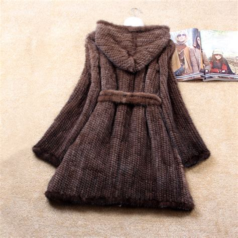 knitted coats for aliexpress buy winter genuine knitted mink