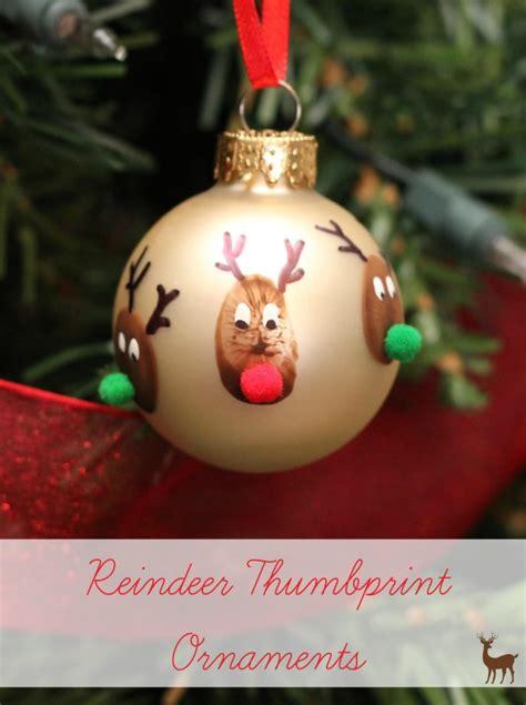 reindeer thumbprint christmas ornament homemade