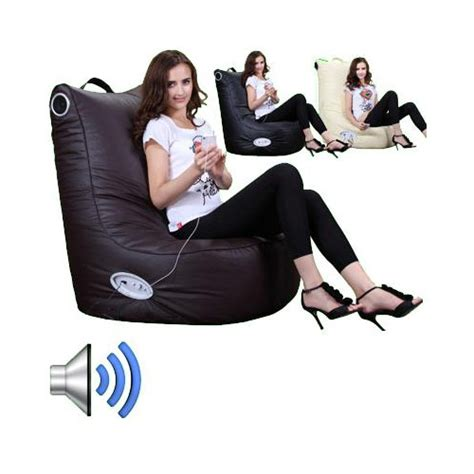 high quality leather bean bag chairs speaker leather beanbag high back chair gamer gaming
