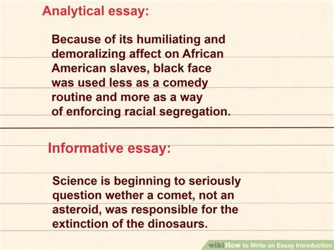 how to write an introduction to a paper 1 writing an essay introduction the writing center