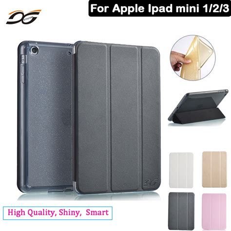 Mini 1 2 3 Back Softcase Fancy 3 for mini high quality pu leather with shiny soft tpu back anti drop