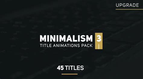 minimalism 3 after effects template videohive 14588541