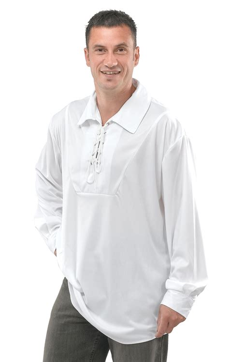 Fancy Shirt For Go Away White s pirate musketeer shirt white fancy dress standard lace new new