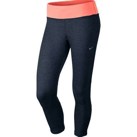 Nike Freyza Pink wiggle nike epic run crop running tights
