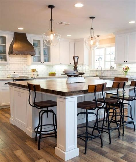 Pendant Lighting Kitchen Island Ideas by Cocinas Comedor Con Mesa Integrada Los Consejos Del
