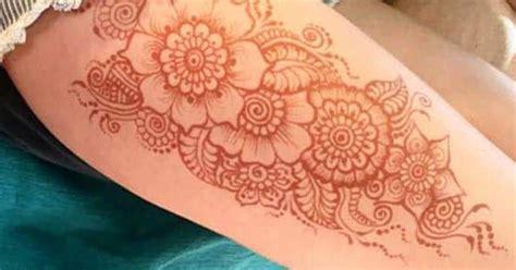 henna tattoo mannen henna mehndi ontwerp idee voor dij tattoos ideas
