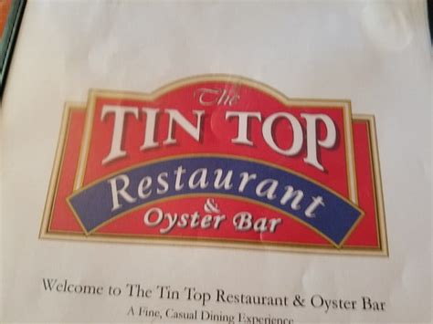 tin top restaurant and oyster bar tin top restaurant oyster bar bon secour menu prices