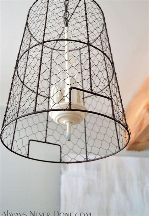 wire pendant lighting chicken wire storage basket pendant lights hometalk