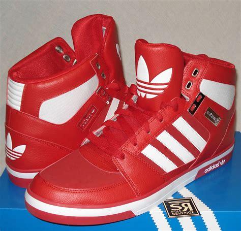 adidas originals mens hard court   red white