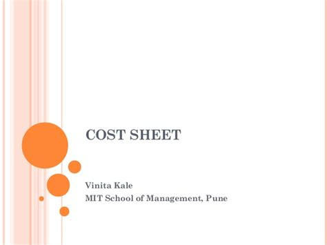 Mit Mba Cost by Definition Cost Sheet New