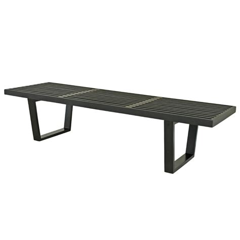 black wooden benches wholesale interiors nelson style wooden bench black 4015 2