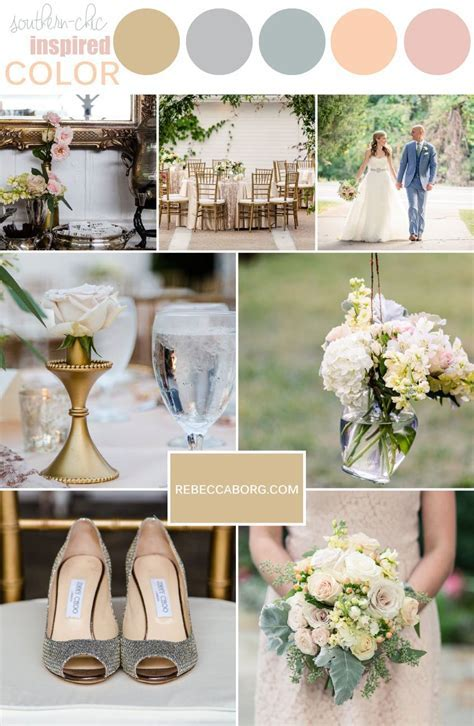 wedding colors for a vintage southern chic inspired