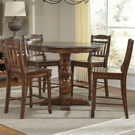 Round Rugs For Dining Room by A America Andover 5 Piece Round Counter Height Dining Set