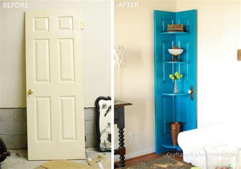 How To Into A Door by Corner Door Shelf
