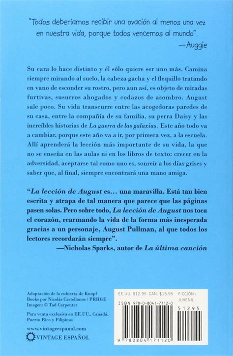 libro the wonders of language la lecci 243 n de august wonder spanish language edition spanish edition complete overview for