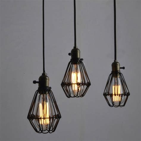 wire cage pendant light winsoon pendant light shade vintage industrial