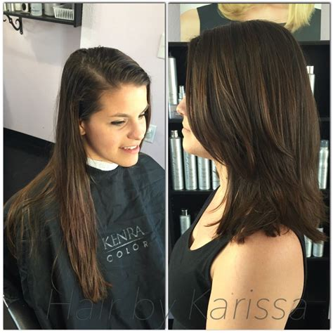 from long hair to short hair before and after haircut natural color long hair to short hair perfect
