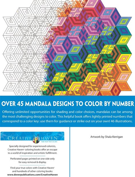 color by numbers coloring book of mandalas a mandalas and designs color by number coloring book for adults for stress relief and relaxation color by number coloring books volume 25 books welcome to dover publications