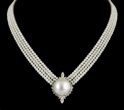 kutchinsky 18k yellow gold pearl necklace rrp 163