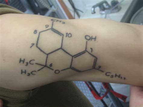 thc tattoo tattoos of illicit molecules the pub shroomery