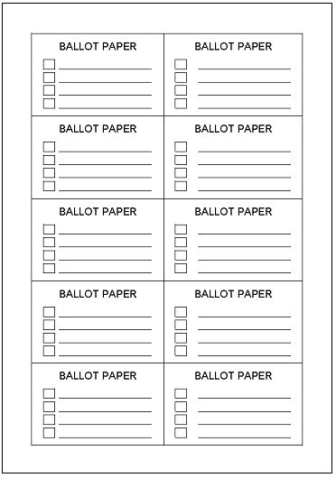 ballot template pin ballot template on