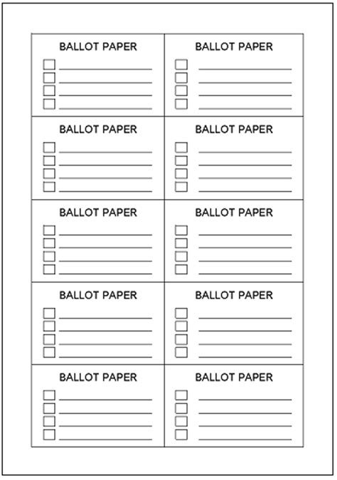 blank voting ballot template just b cause