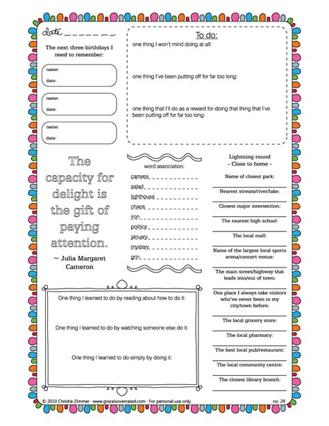 5 best images of free printable garden journal templates