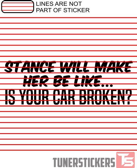 Stance Make Sticker