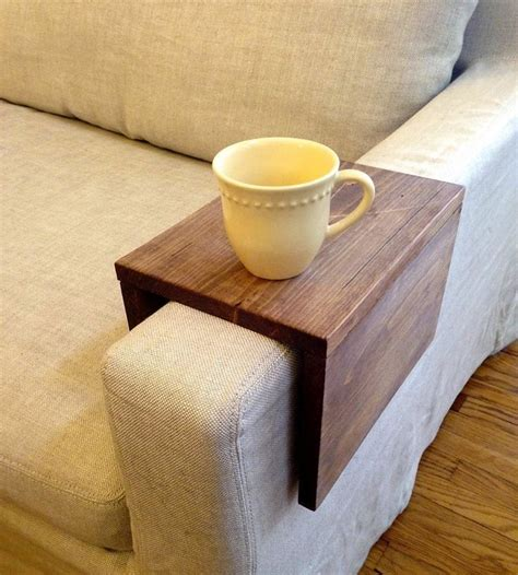 wooden couch sleeve wood couch arm table cool stuff pinterest
