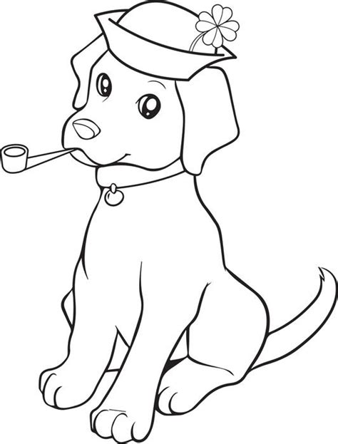 online coloring pages st patrick s day free printable st patrick s day puppy dog coloring page