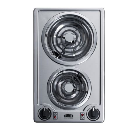 summit cooktop summit appliance 12 in coil electric cooktop in stainless