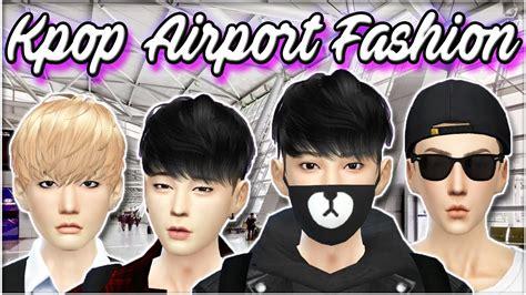 Korea Cc the sims 4 kpop airport fashion bts exo collab w