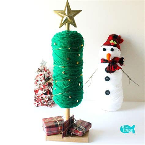 Sew Home Decor easy no sew diy yarn christmas tree holiday home decor