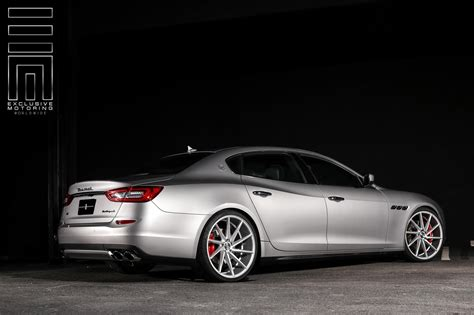 maserati quattroporte wheels gray metallic maserati quattroporte s q4 shows off custom