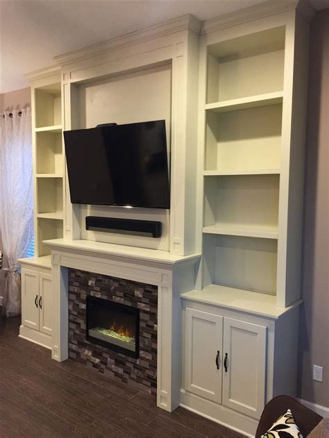 built in bookcase fireplace custom fireplace electric fireplace tile surround built