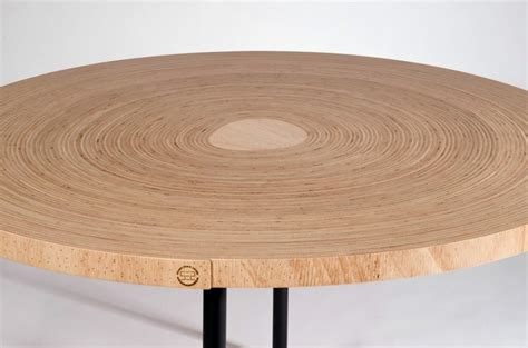 unique table made of twisted bend plywood twisted table