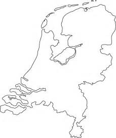 outline map geography netherlands outline maps