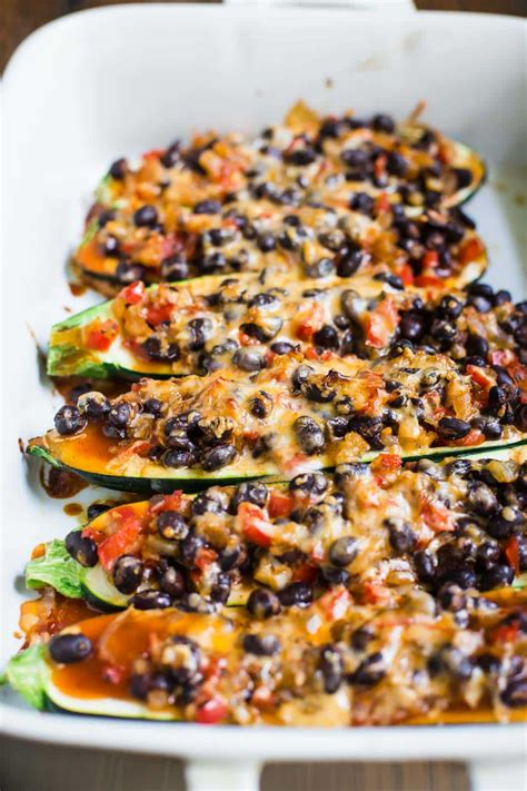 vegetarian gluten free zucchini boats enchilada zucchini boats food with feeling